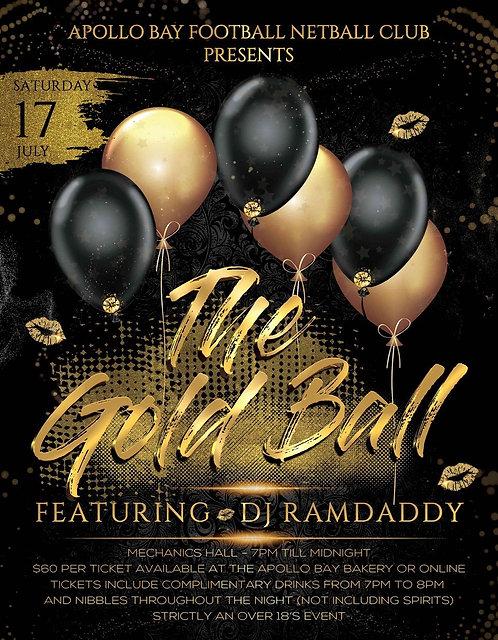 2021 Gold Ball Ticket