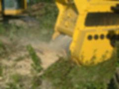 Excavator Mounted Tree Grinder