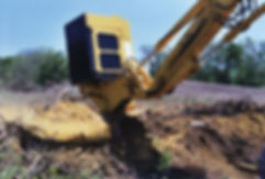 Excavator Mounted Stump Grinder