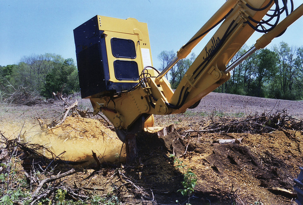 Excavator Mounted Stump Grinder