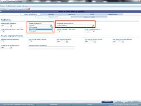 Configurar o Protheus para efetuar SSO (Single Sign-On) utilizando AD (Active Directory).