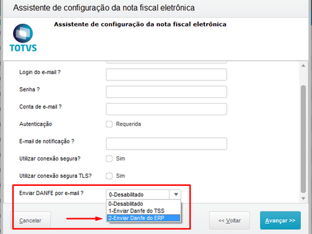 TSS - Envio de e-mail do danfe gerado pelo erp (customização disponível via rdMake)