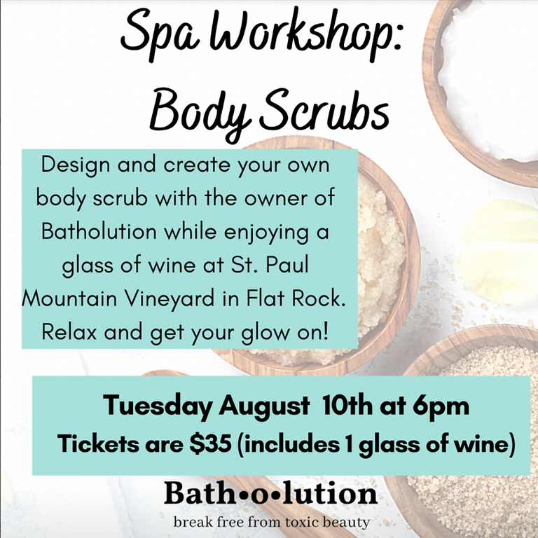 Body Polish DIY Bath Scrubs Class