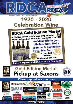 Celebration Wine available                                 100 years for the RDCA