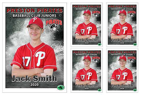Waverley Baseball Player Portrait – 5 in 1 Pack