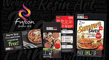 Design and print of flyers and advertising