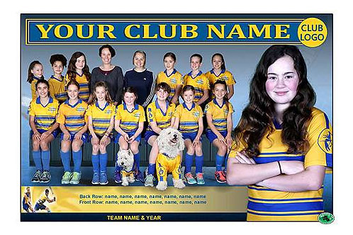 Yarra Valley Hockey Team Photo With Individual Player Portrait