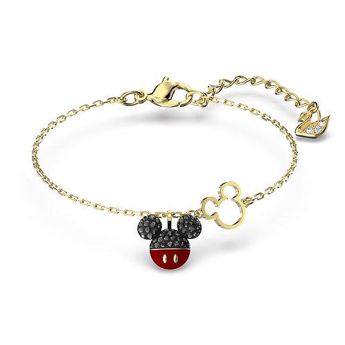 Mickey BraceletBlack, Gold-tone plated