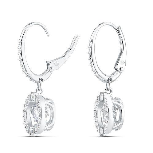 Swarovski Sparkling Dance Pierced EarringsWhite, Rhodium plated