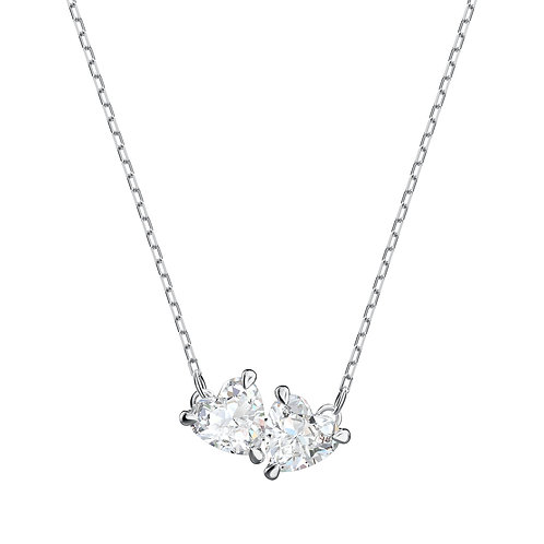 Attract Soul NecklaceWhite, Rhodium plated
