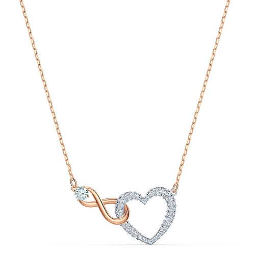 Swarovski Infinity Heart NecklaceWhite, Mixed metal finish