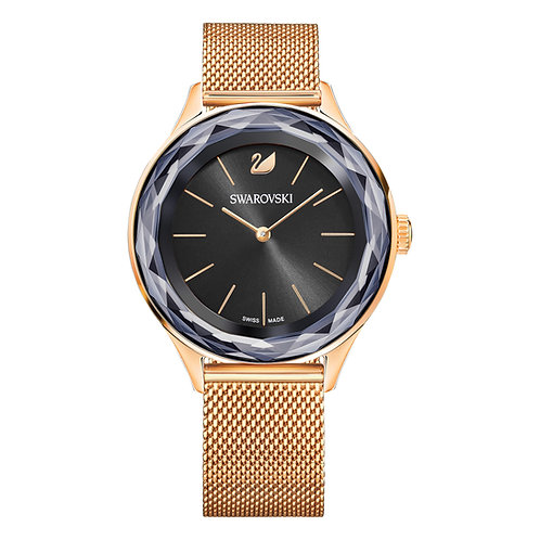 Octea Nova WatchMilanese bracelet, Black, Rose-gold tone PVD
