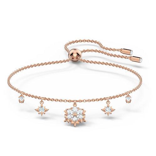 Magic BraceletWhite, Rose-gold tone plated