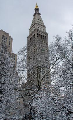 Snowy Buildings