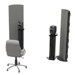 portable acoustic panels, portable sound absorbing panels, freestanding acoustic panels, portable acoustic treatment panels,