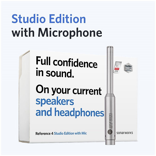 Sonarworks Reference 4 Studio Edition with measurement mic