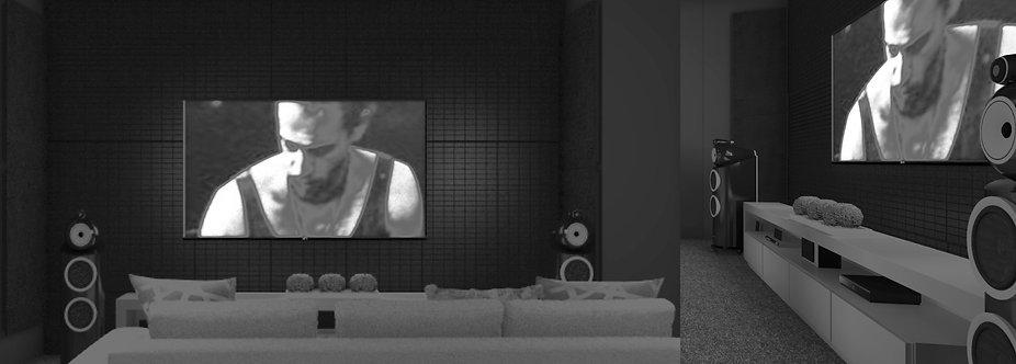 Loki Velvet Absorber, Home theatre absorbers, hi-fi room acoustic panels, artnovion absorbers, sound absorbers, sound panels,