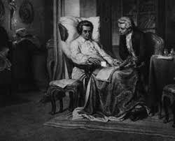 Sussmayr at Mozart's deathbed