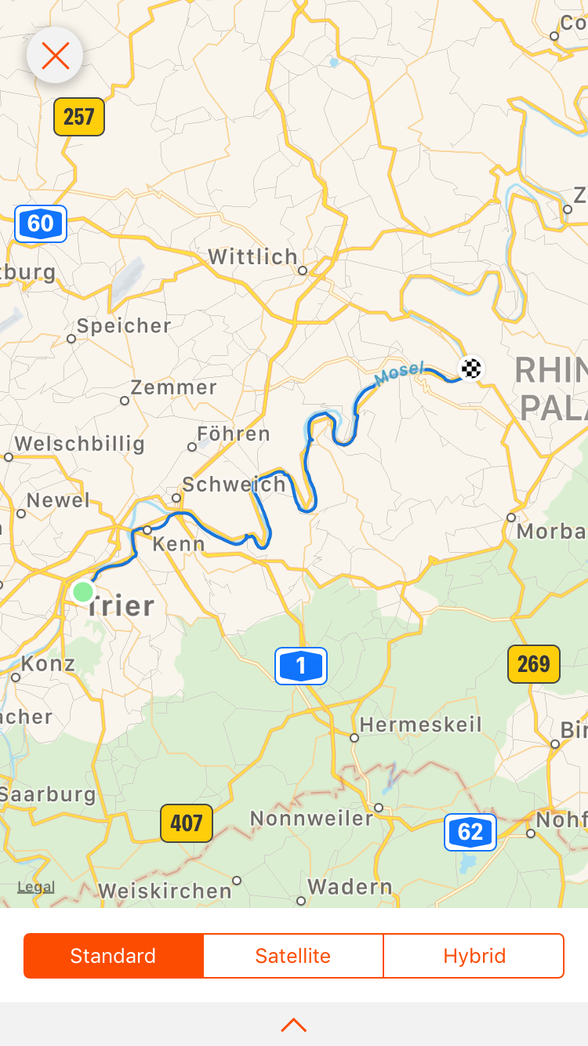 Day 2.......Trier to Bernkastel-Keus ....64 km (total 124km)
