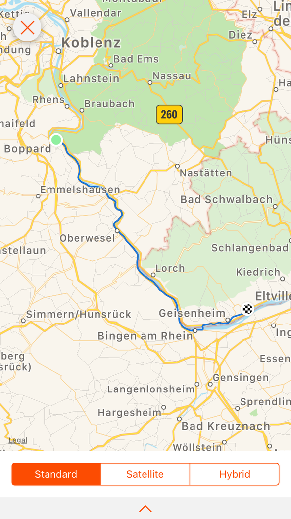 Day 6 ...... Boppard to Oestrich-Winkel.....54 km .....(total 332 km)