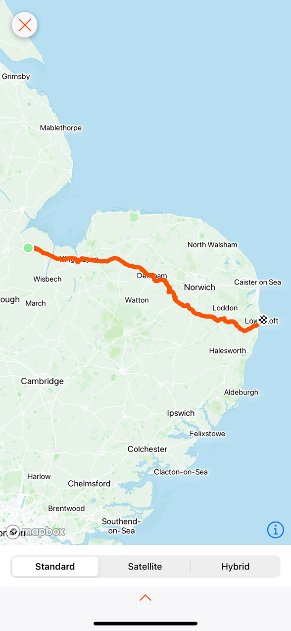 Holbeach to Lowestoft…156.7km …954.7km from the start …1,059.7km in total
