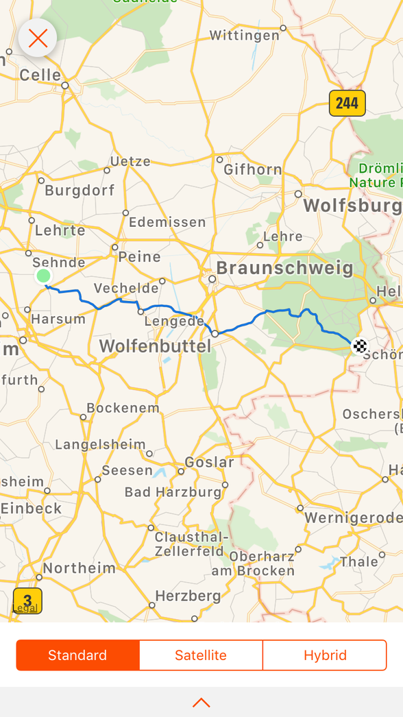 Day 12 .... Algermissen to Schöningen....... 86 km ...(total 653 km)