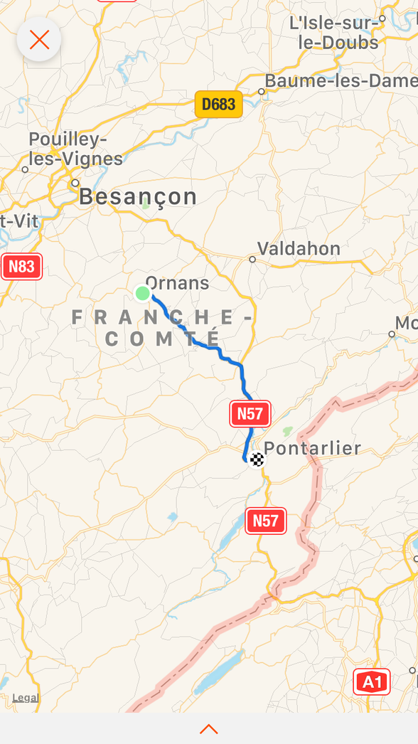 Day 13 Ornans to Pontarlier