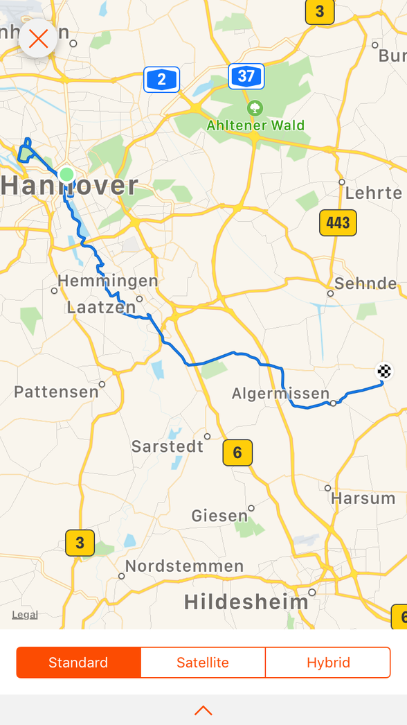 Day 11 ...... Hannover to Gros Lobke ....51 km .... (total 567 km)
