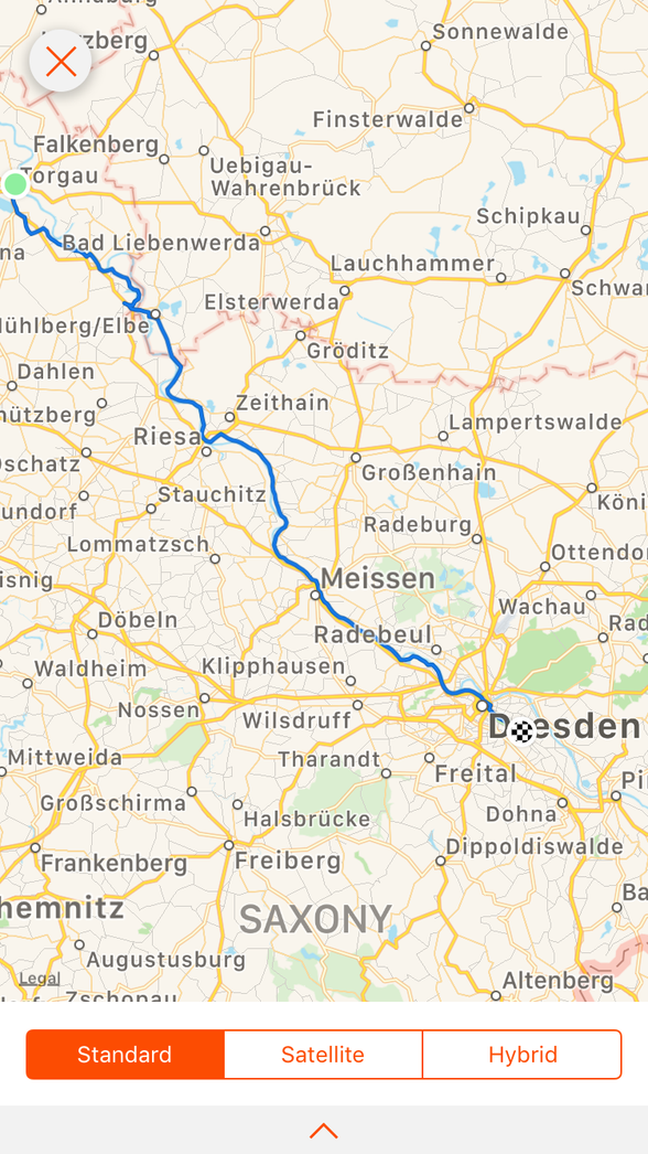 Day 15 .... Torgau to Dresden ...... 113 km .....(total cycled 1,013 km)