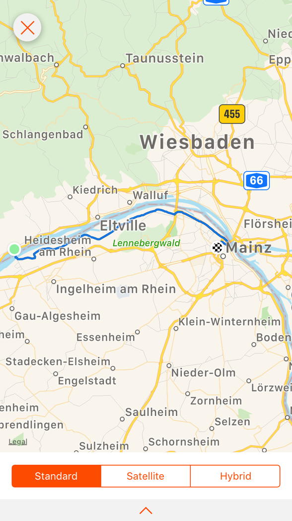 Day 7 .......Oestrich-Winkel to Mainz......25 km (total 357 km)