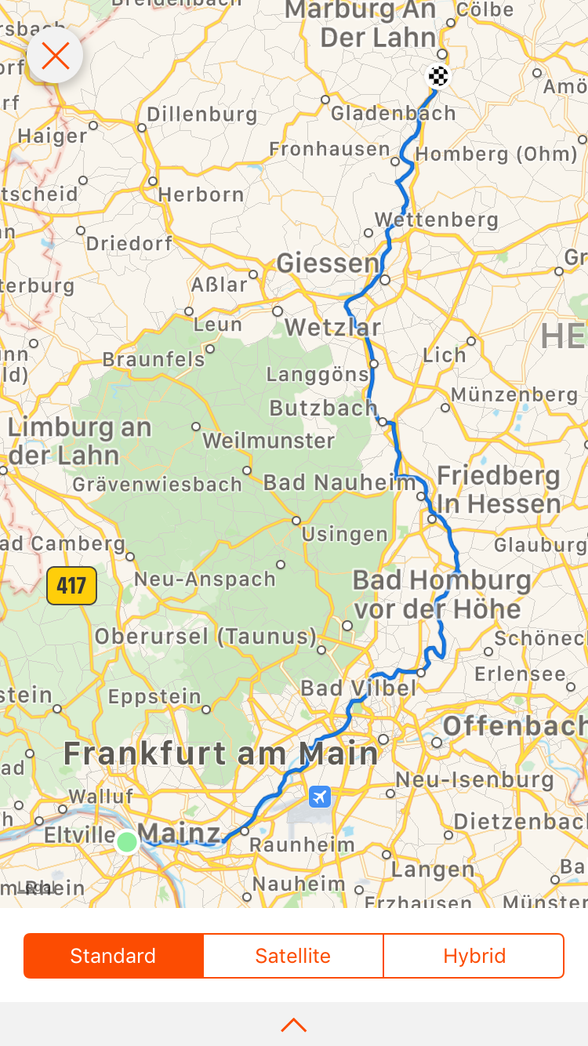 Day 8 ......Mainz to Marburg An Der Lahn ......159 km ....(total 516 km)