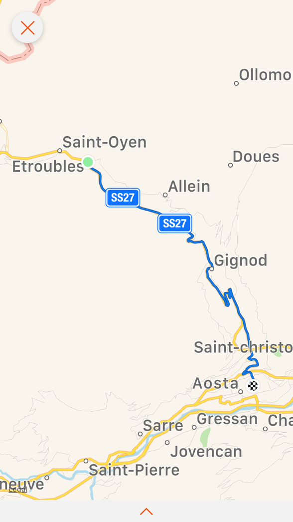 Day 18 Bourg St Pierre to Verres