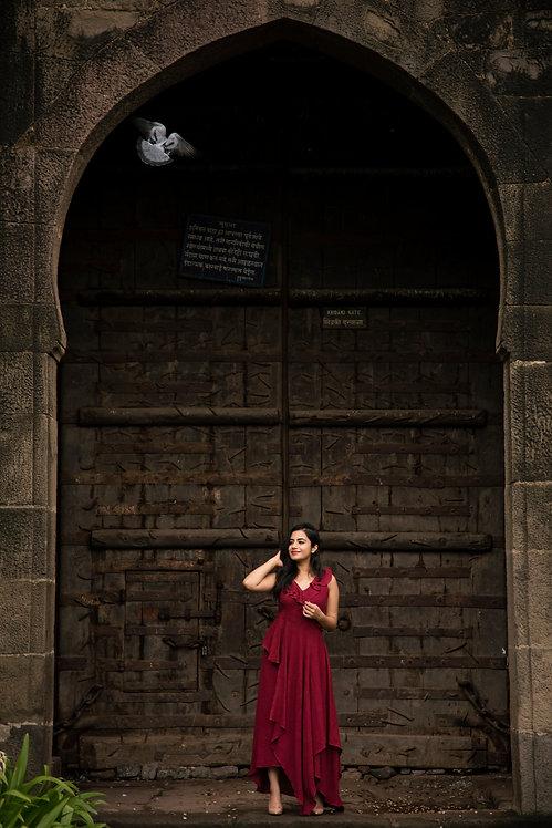 Merlot | Maxi Dress