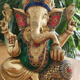 Ganesha besetzt mit Edelsteinen 9 kg 30cm 599,-€