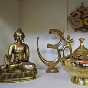 Rächergefäß Om Buddha aus Messing