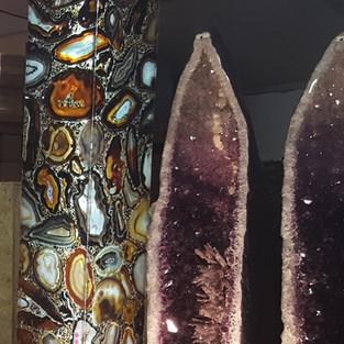 Messe Tucson Lampe aus Achatscheiben mehr als 3 Meter hoch