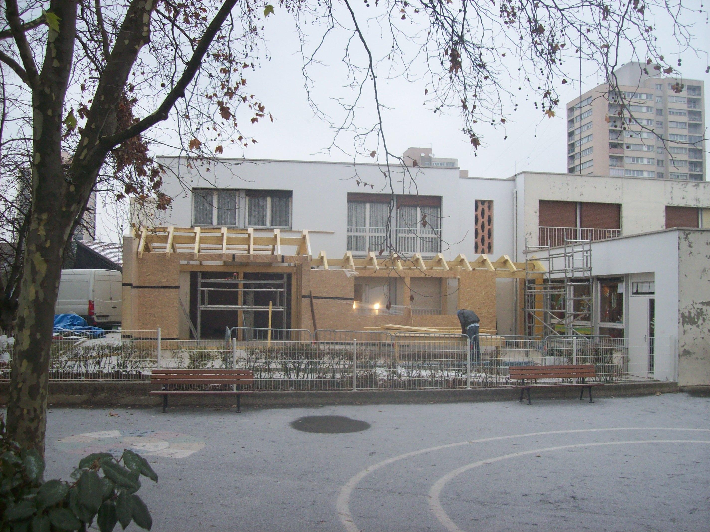 façade principale en chantier 1