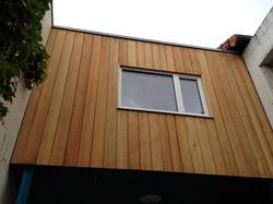 façade bois sur jardin