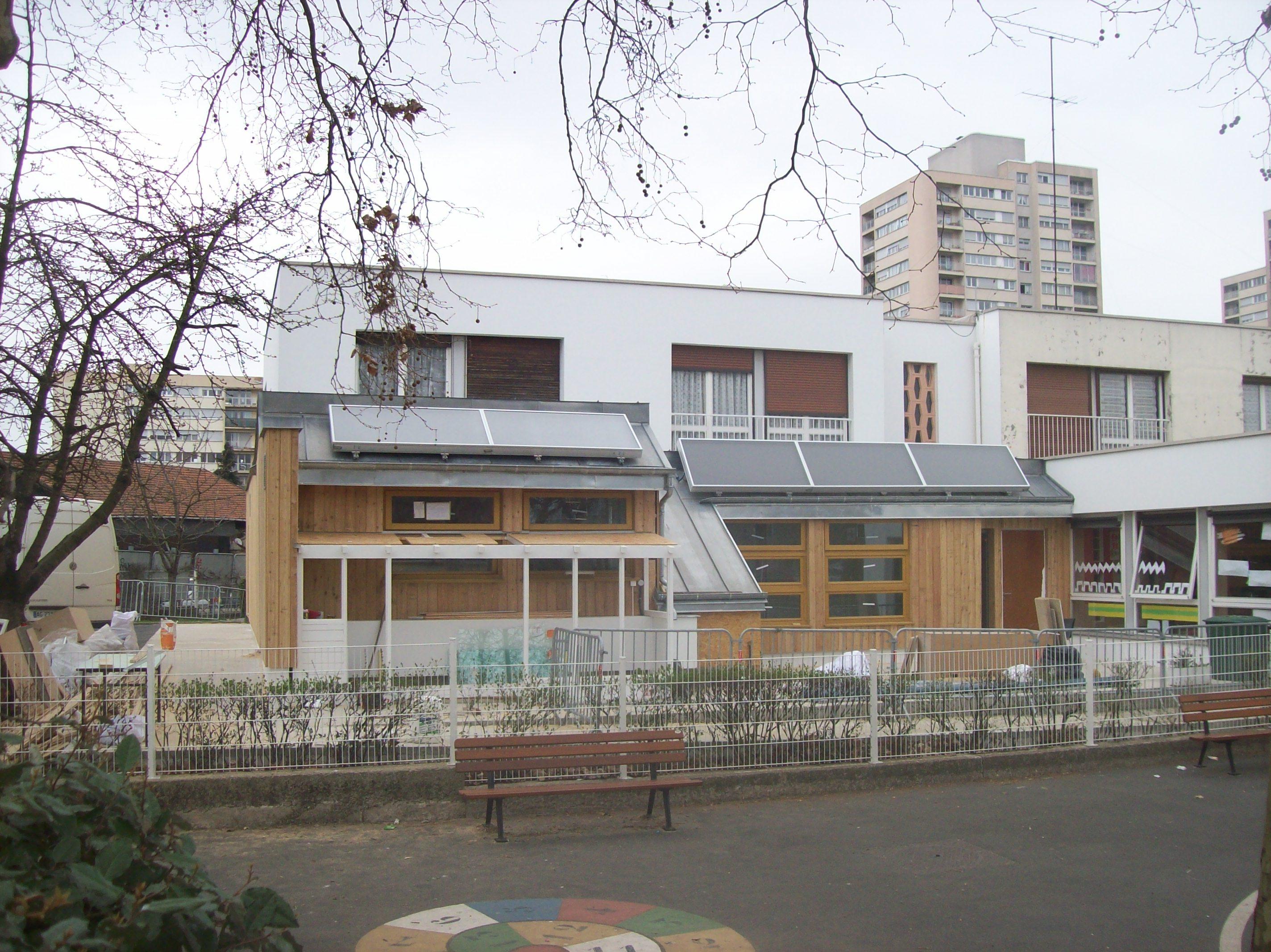 façade principale en chantier 3