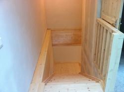 L'escalier depuis l'étage
