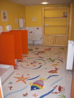 mosaïques des sanitaires