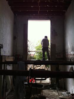 entrée en cours de chantier