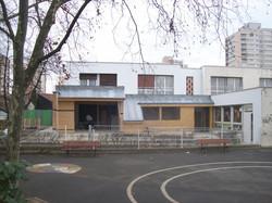 façade principale en chantier 2