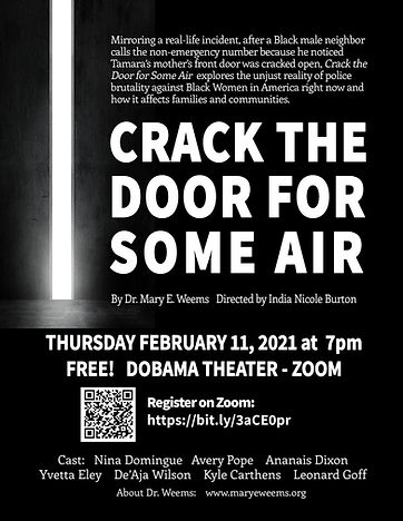 Flyer for Crack the Door for Some Air -