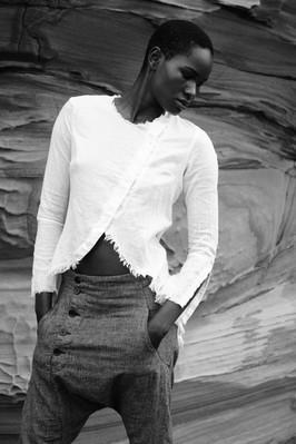 Zainab Ikkro androginous model by ale fruscella