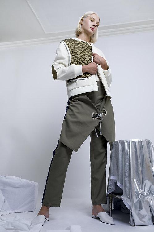 Pantalon avec effet jupe portefeuille