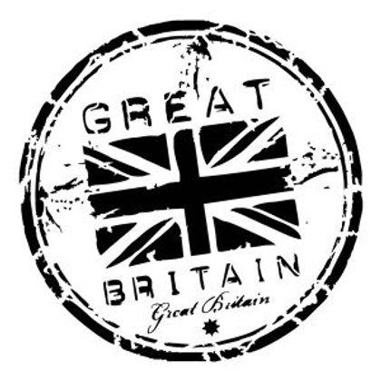 "Great Britain Stamp 8.5""x9"""