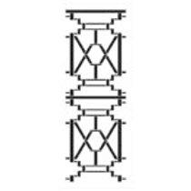 """Chippendale Stencil 30""""x12"""""""