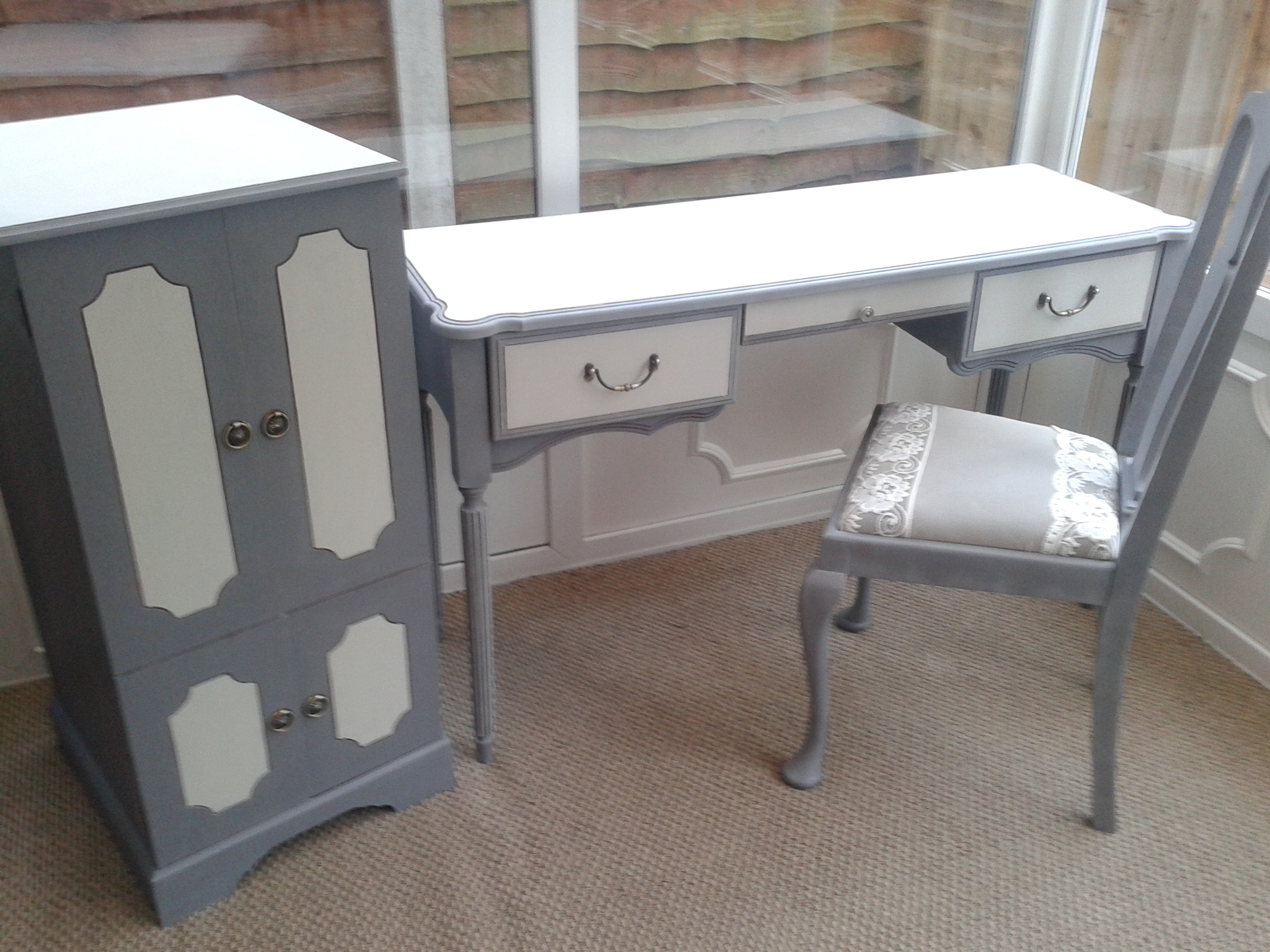 cabinet £45, Desk £145, Chair £35