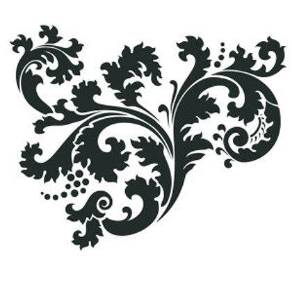 """Leafy Scroll 14""""x6"""